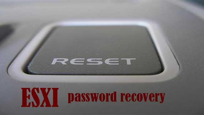 بازیابی رمز عبور ESXI  از طریق  نصب مجددESXI