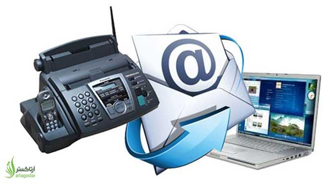 مراحل  ارسال فکس از کامپیوتر